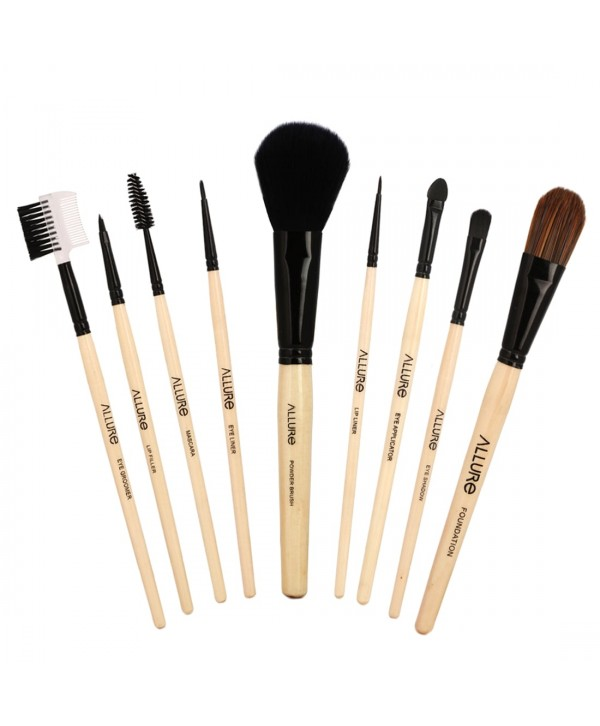Allure Classic ACK-09 Pack Of 9 Makeup Brush With Travel Pouch