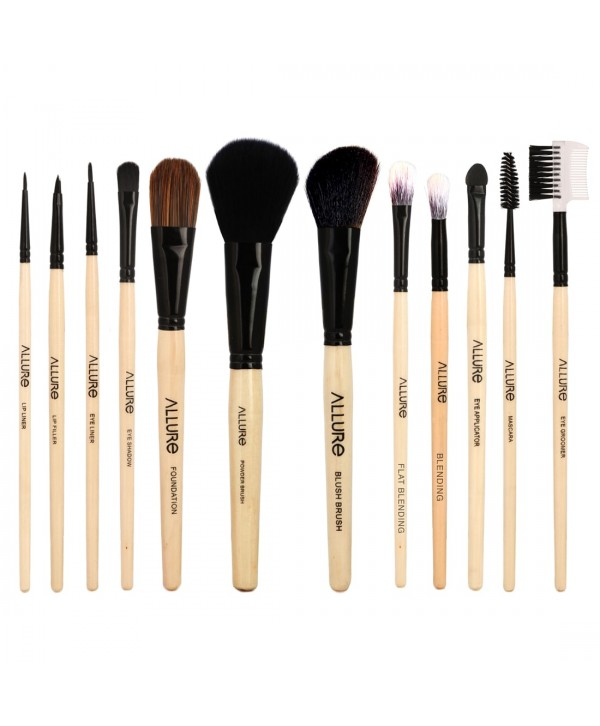 Allure Classic ACK-12 Pack Of 12 Makeup Brush Set With Travel Pouch