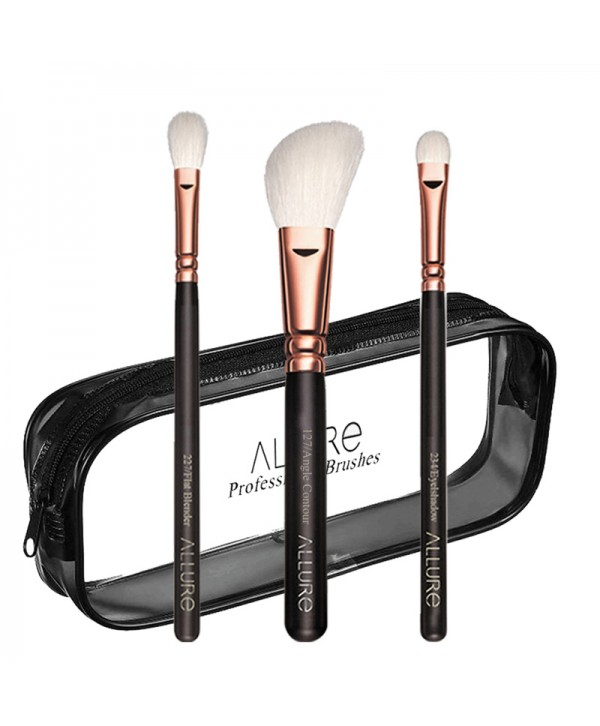 Essential Trio Brush Set With Travel Pouch